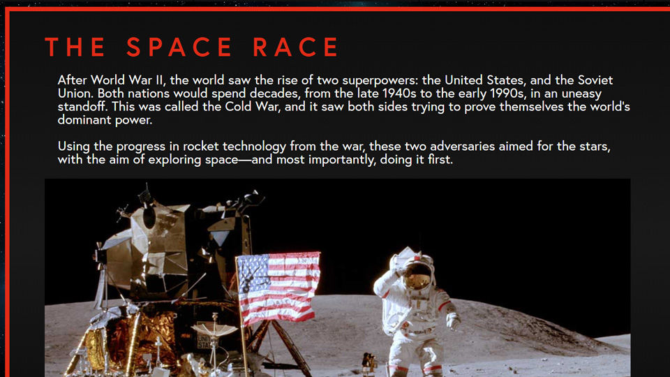 Cosmic Atlas' page on the Space Race