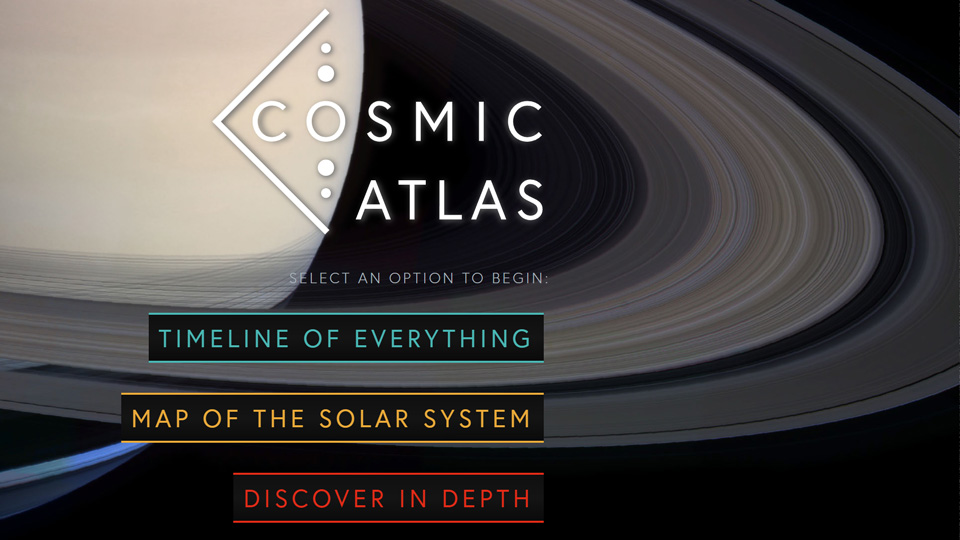 Cosmic Atlas homepage