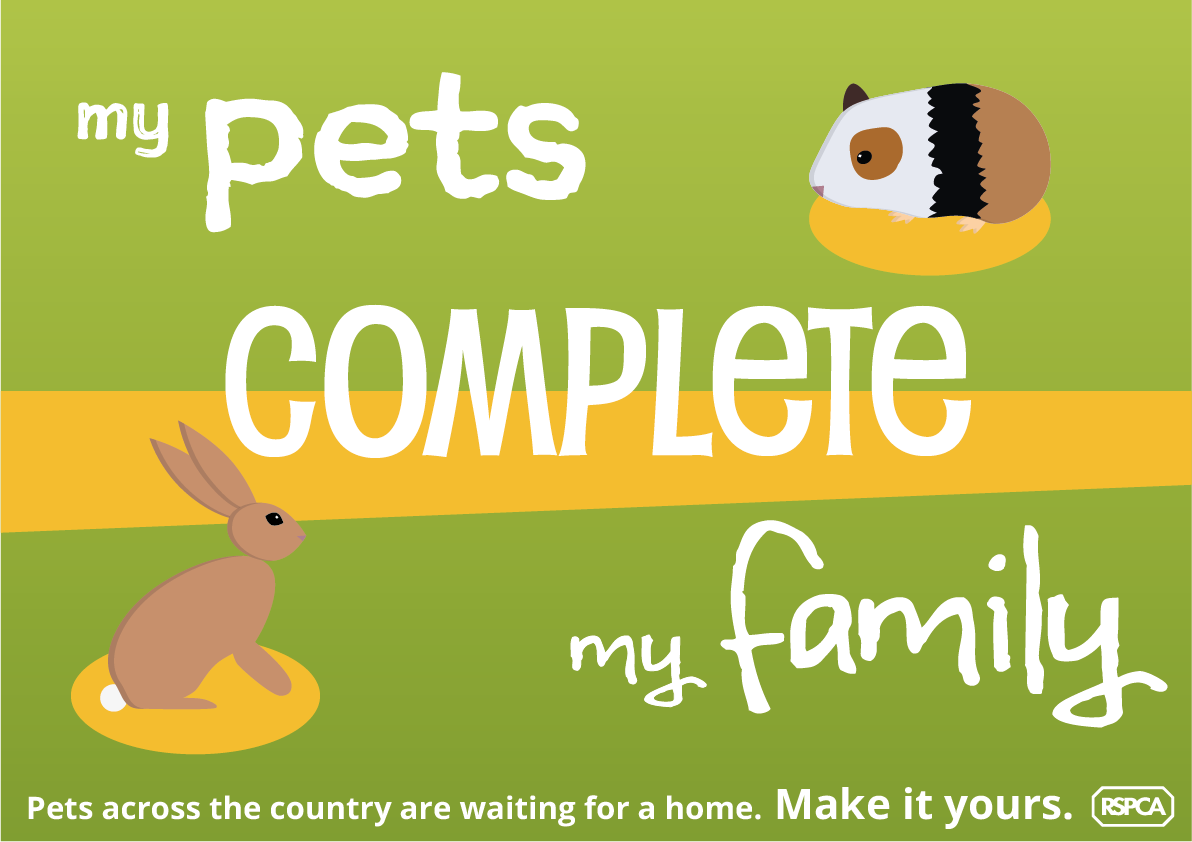 Poster: 'My Pets Complete My Family'