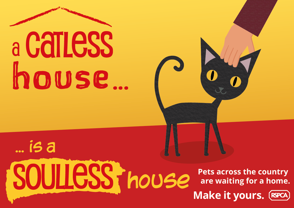 A poster about how great cats are: 'A catless house is a soulless house.'