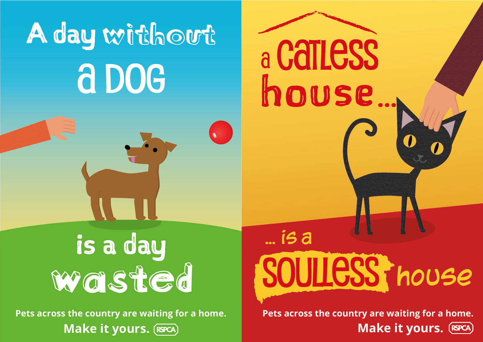 Alternate versions of pet posters.